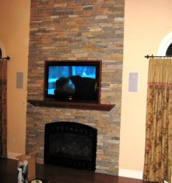 TV Installed IN Fireplace