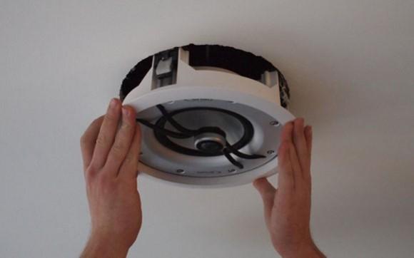 installing-speaker-ceiling
